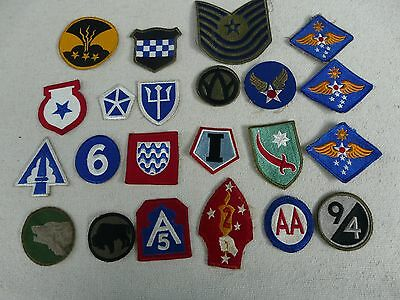 LOT OF 22 PATCHES ORIGINAL WWII WW2 US ARMY Infantry Airborne Buffalo PATCH