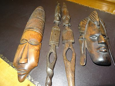 4 Pieces Of Authentic African Tribal Art