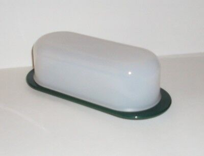 Tupperware Open House Covered Butter Dish in Hunter Green. Shipping is Free