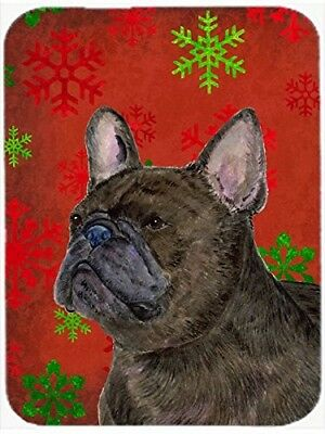 (Red and Green Snowflakes) - Caroline's Treasures SS4726LCB French Bulldog Red
