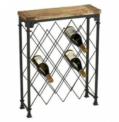 Rustic Iron and Reclaimed Wood Wine Rack Console Table. Home Decor Source