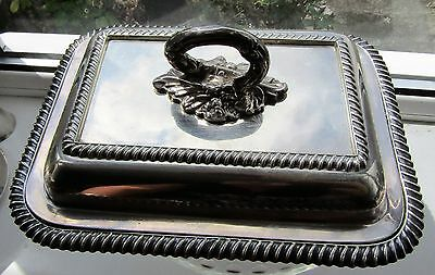 Antique Silver Plate Tureen Barker Brothers Entree Serving Dish