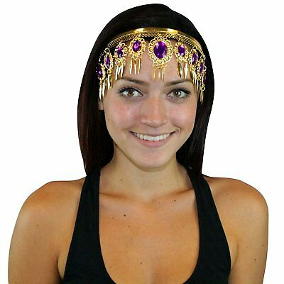 Purple Leaf Crown Belly Dance Headband Headpiece Jewelry Party Accessories