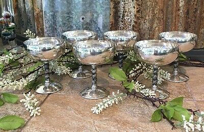 Silver Plated Champagne Goblet Made EPB Spain, set of 12
