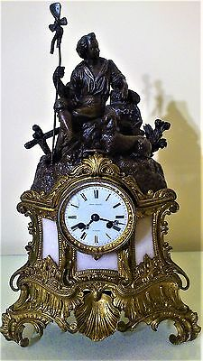 A 19th Century French Figural Mantel Clock.