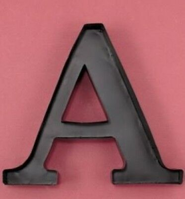 "Monogram Letter ""A"" Wall Wine Cork Holder in Black Metal. LDI. Shipping Included"
