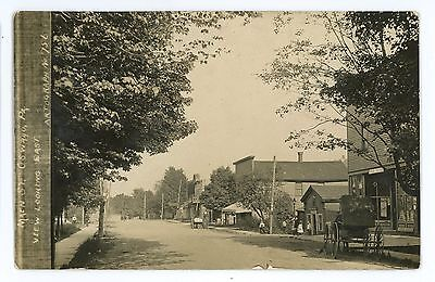 RPPC Main Street Stores Post Office OSWAYO PA Potter County Real Photo Postcard