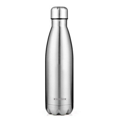 (500ml, Silver) - Water Bottle, 10.4 Ounce (500 ml) Vacuum Insulated Double