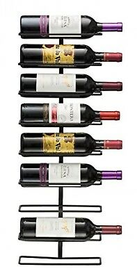 Sorbus Wall Mount Wine Rack Holds, Metal, 9 Bottles. Delivery is Free