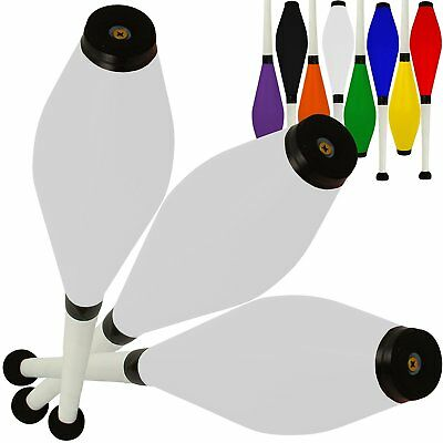 Set Of 3 Jac Products Medium Air Juggling Clubs 3 White