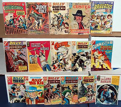 WESTERN Gunfighter Billy The Kid Charlton & more Silver Age Comic 16pc Lot