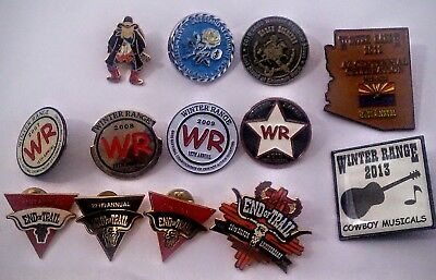 13 Western Sass Single Action Shooters Society Pins Winter Range End Of Trail