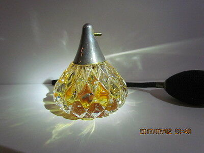 Antique Sterling Cut Crystal Faceted Ornate Perfume Bottle w/ Atomizer GORGEOUS!