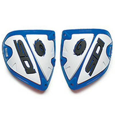 Sidi NEW Mx Crossfire Blue/White  Replacement Motocross Dirt Bike Shin Plate