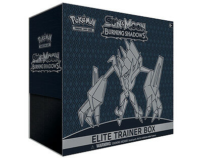 Pokemon Sun and Moon Burning Shadows Elite Trainer Box * New * in stock 4/8