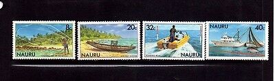 Nauru 1981 Fishing Set Mnh