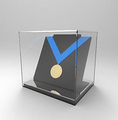 Medal Display Case, Freestanding Acrylic Perspex - Medal/Medallion/Award -SILVER
