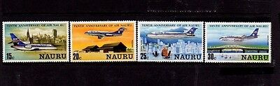 NAURU 1980 10th ANNIV. AIR NAURU SET MNH