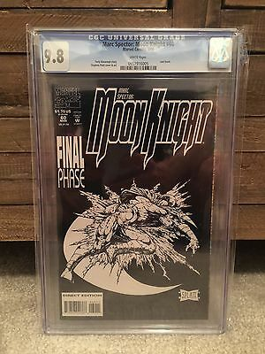 Marc Spector Moon Knight 60 CGC 9.8 Last Issue HTF all black cover