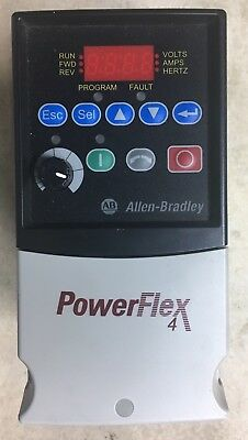 Allen Bradley Power Flex 4 Frequency Drive 22A-B4P5N104 1Hp, 200-240Vac