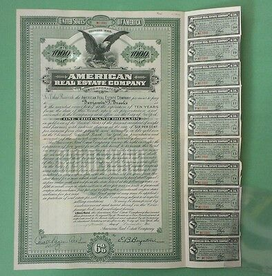 Gold Bond American real estate Company 1910  excellent condition!