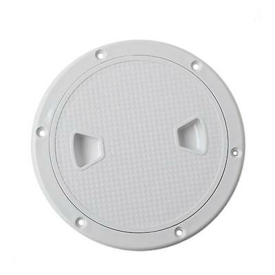 6'' Marine Boat RV Screw Out Deck Plate Inspection Hatches Port Plastic