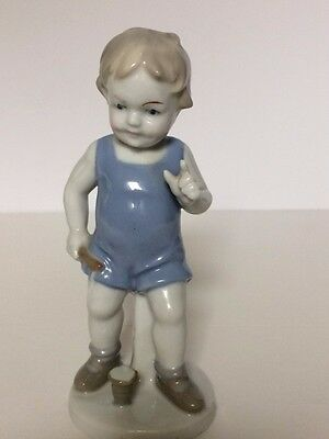 W&A - Wagner & Apel  Figurine of a Little Boy Playing