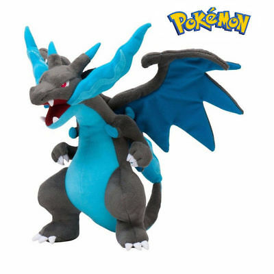 Pokemon Center 10 Inch Mega Charizard X Plush Toy Stuffed Anime Doll US Shipped
