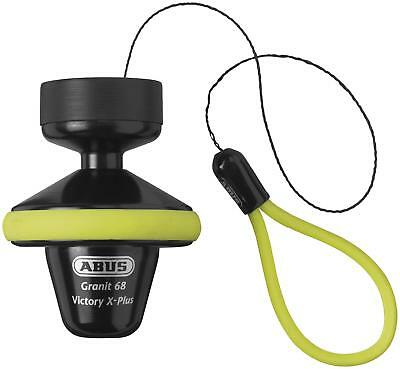 NEW Abus  Motorcycle Granit Victory X-Plus 68 Roll Up Disc Lock Yellow - 14mm