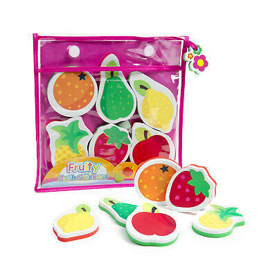 Fruity Bath Stickers Meadow Kids Bath Toys 6 Stickers FREE POST From NSW