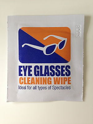 40 x Eyeglasses Cleaning Wipes pre moistened computer optical lens cleaner new