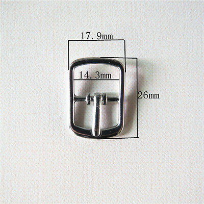 Small Silver Tone Centre Bar Pin Buckles X 10