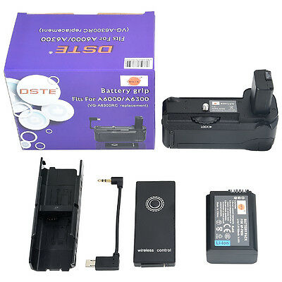 DSTE Remote VG-6300 Battery Grip with NP-FW50 for SONY A6300 A6000 Camera