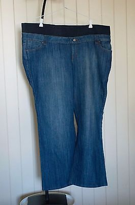 Denim Patch maternity boot cut jeans. GC. Size XL