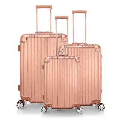 "20""-28''Aluminum Hard Shell Gold Travel Luggage,4 Wheel Cabin Trolley Suitcase"