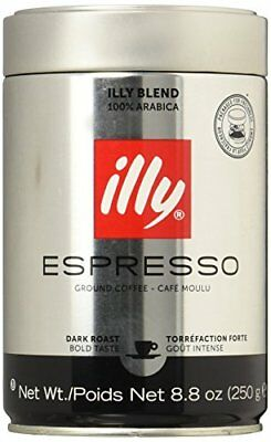 illy Dark Roast Ground Coffee 250 g  Pack of 2