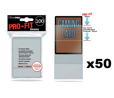 5000 PRO-FIT Sleeves Ultra Pro 50 100ct Packs Card Protectors Standard 64 x 89mm