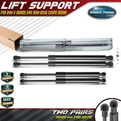 #51238202688 For BMW E46 3 Series Hood Lift Supports Struts L+R Set