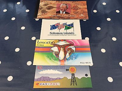 stamp booklets from South Africa, Lesotho, Solomon Islands