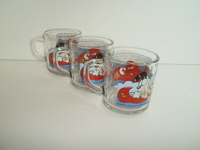 3 Vintage MCDONALDS 1978 GARFIELD GLASS COFFEE MUG CUP Canoing with Odie!