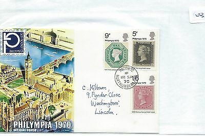 wbc. -  GB - FIRST DAY COVER - FDC - 223 - SPECIALS - 1970- PHILYMPIA
