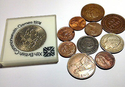 Collection of Vintage Coins Xth British Commonwealth Games 1974