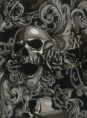 3 Mtrs Skulls and Roses Hydrographic film hydro dip 100cm width