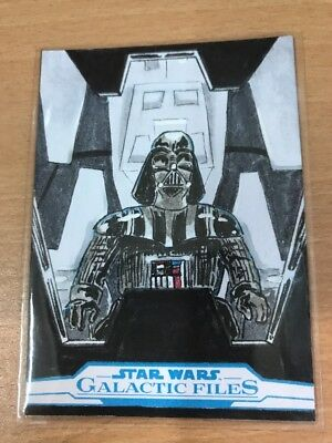 Star Wars Galactic Files Reborn Sketch Card By Eric White
