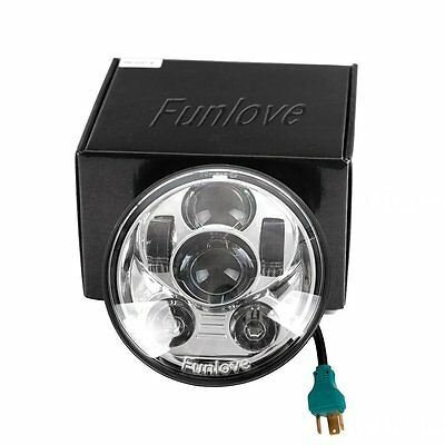 New 5-3/4 5.75Inch Daymaker Projector LED Headlight for Harley Davidson Silver