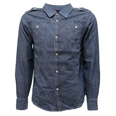 2016T  camicia jeans bimbo JECKERSON blu denim shirt kid