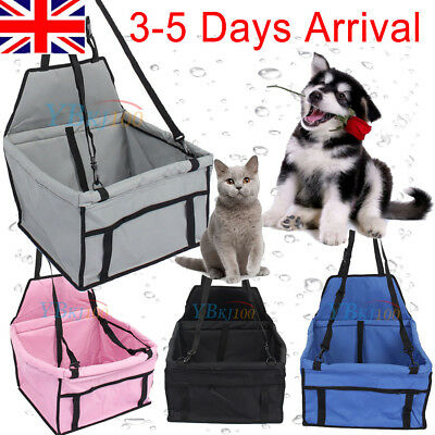 Folding Dog Cat Car Seat Carrier Case With Cover For Travel Camping Outdoor Use