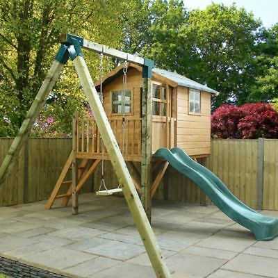 Poppy Playhouse, Tower & Activity Set  Mercia Garden Products Sheds