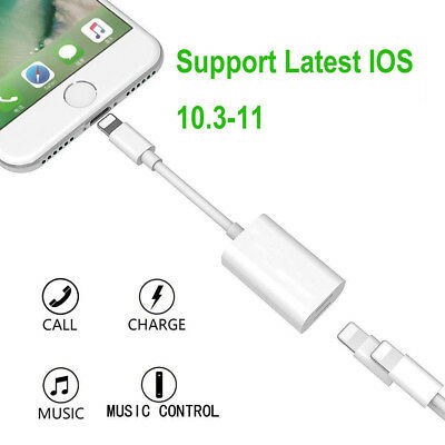 2 in 1 Dual Adapter & Splitter Headphone Audio Charger for iPhone 7 Plus AU