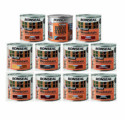 Ronseal 5 Year Waterproof Wood Stain Long lasting Satin Finish 2.5L All Colour's